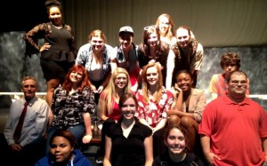 Theatre 3 and 4 classes, along with Mr. Willie Sumner, Department Head, Theatre, and Senior Class Advisor at New Bern High School