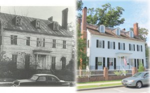 New Bern's Attmore Oliver House, Then and Now