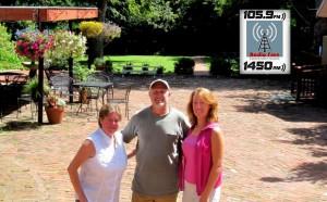 Laura Johnson, Mike Lentz, and Lisa Bisbee Lentz in Isaac Taylor Garden
