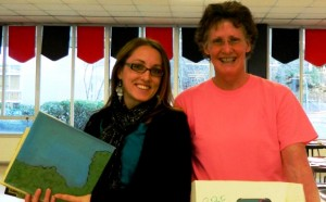 Cynthia Keller, PIE Ambassador from Havelock Elementary, and Amber Mirise, beginning teacher at Havelock Elementary