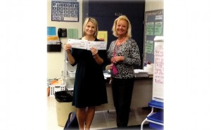 Tonya Gent receives Weyerhaeuser Mini Grants through Partners In Education.
