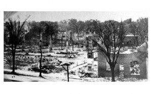 Aftermath of The Great Fire of 1922, New Bern Firemen's Museum Collection