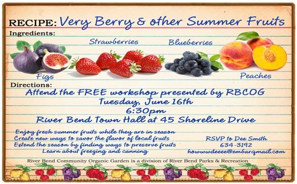 Fruits Workshop River Bend