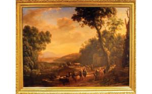 """""""Pastoral Landscape with Huntsmen"""" by Claude Lorrain"""