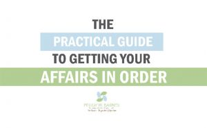 Getting Your Affairs in Order