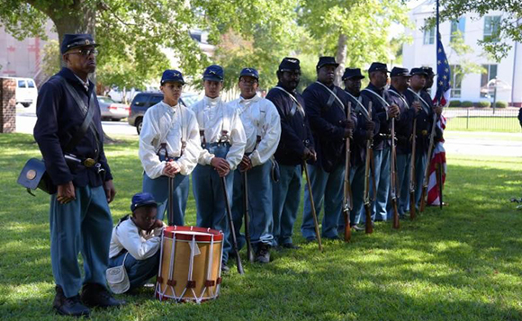 Members of Tryon Palace;s 35th United States Colored Troops Regiment