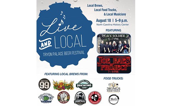 Live and Local Tryon Palace Beer Festival