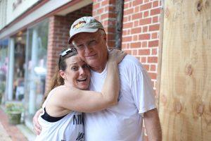 Tom & Hope share an embrace
