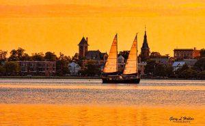 New Bern Sunset by Gary Hollar Photography