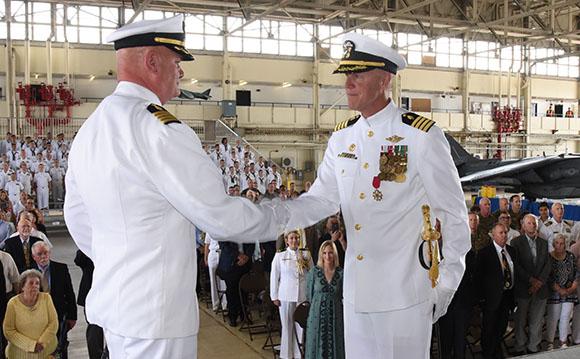 Captain Douglas Stephens Change of Command