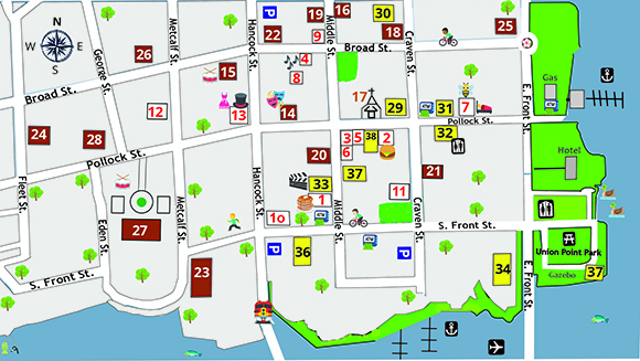 New Bern Now's Downtown Map