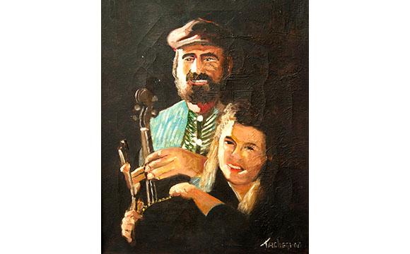 Simon and Sara Spalding (oil painting by Willie Taglieri)
