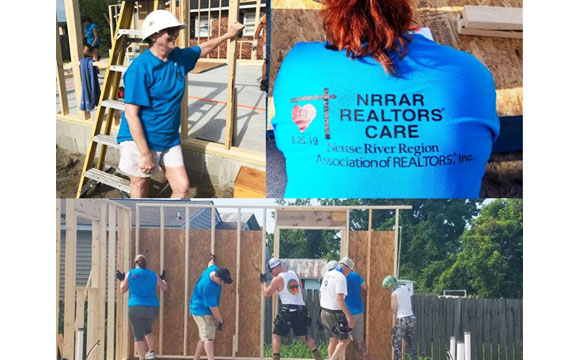 Craven Habitat Build with Realtors