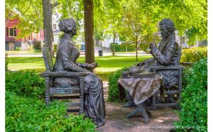 Sculpture of Susan B. Anthony and Frederick Douglas