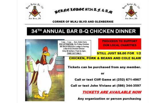 Berne Lodge BBQ Chicken Fundraiser