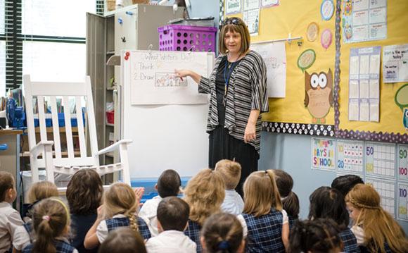 Mrs. Walker teaching her class