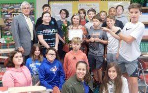 Edward Jones, Mike Bass at Grover C. Fields Middle School