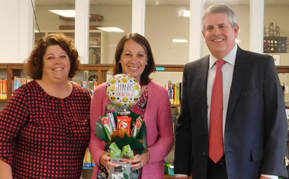 Principal Alligood, Liz Phillipps and Dan Roberts