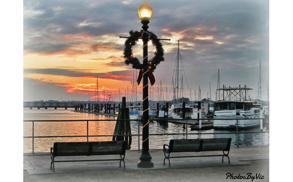 Waterfront Christmas by Victor Montgomery