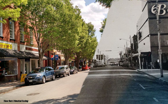 Middle Street 1972 and now