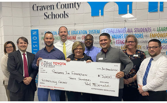 Toyota of New Bern Tech Grant