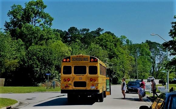 Free Meals on Big School Bus Wheels
