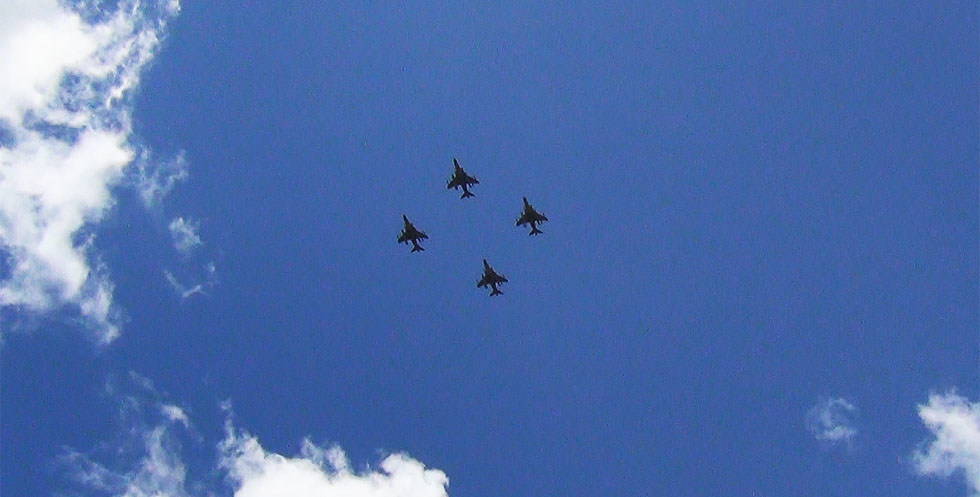 2nd Marine Aircraft Wing Fly Over