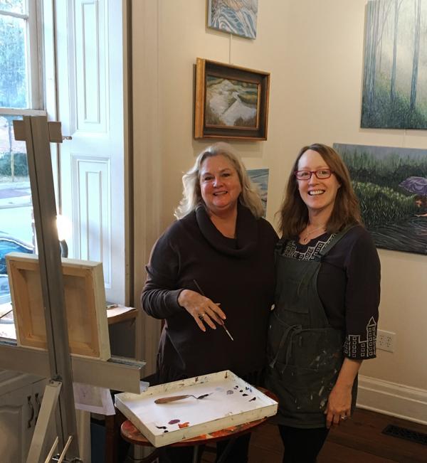 Carol Jones and Lisa Bisbee Lentz artists at Greater Good Gallery