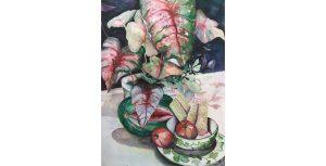 Martha Jenkins - Caladium with Ivy Dishes