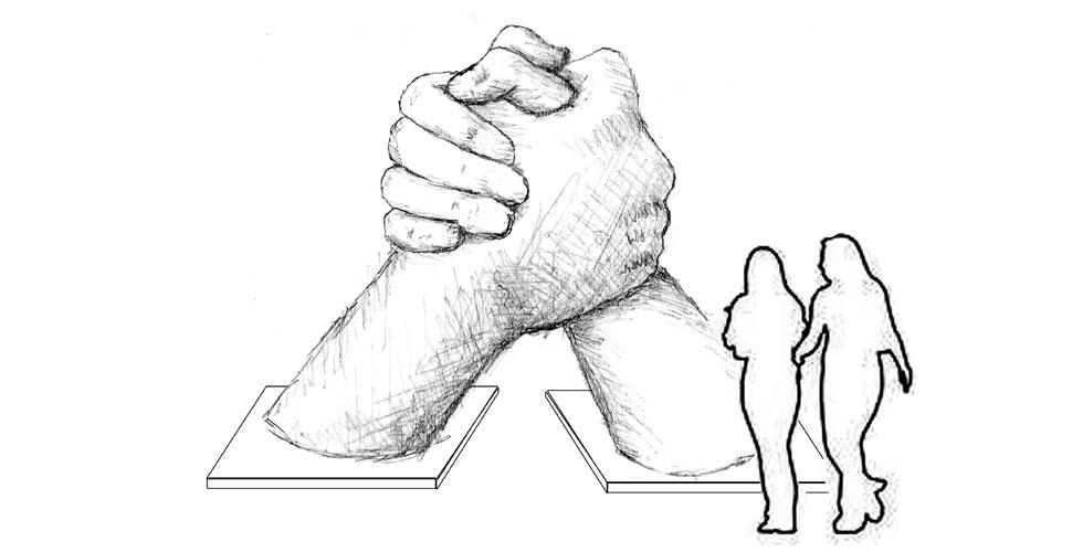 Hands Clasped Sculpture