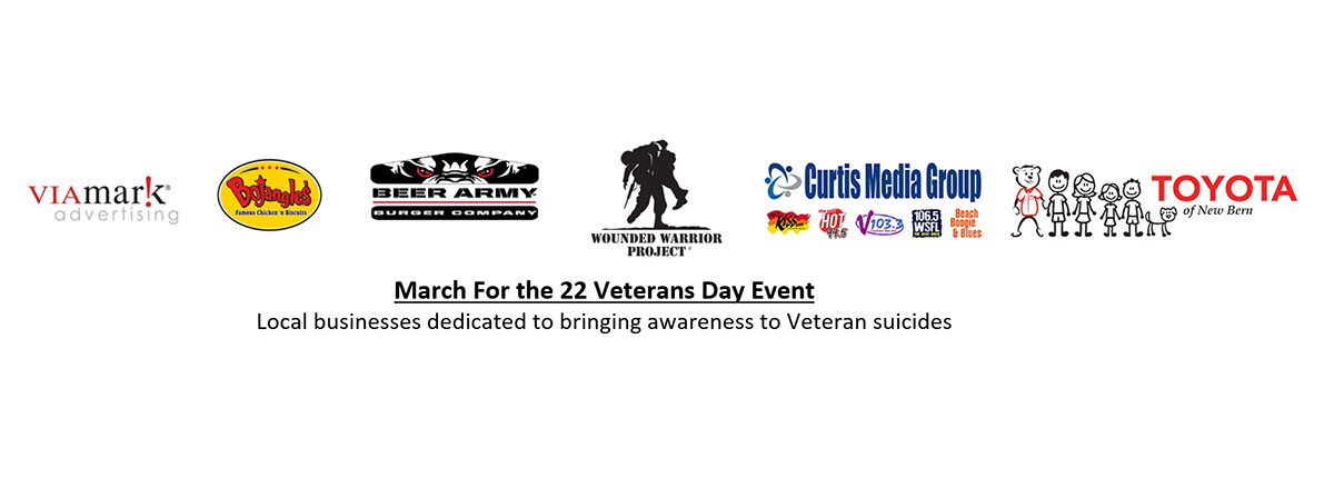 March for the 22 Veterans Day Event