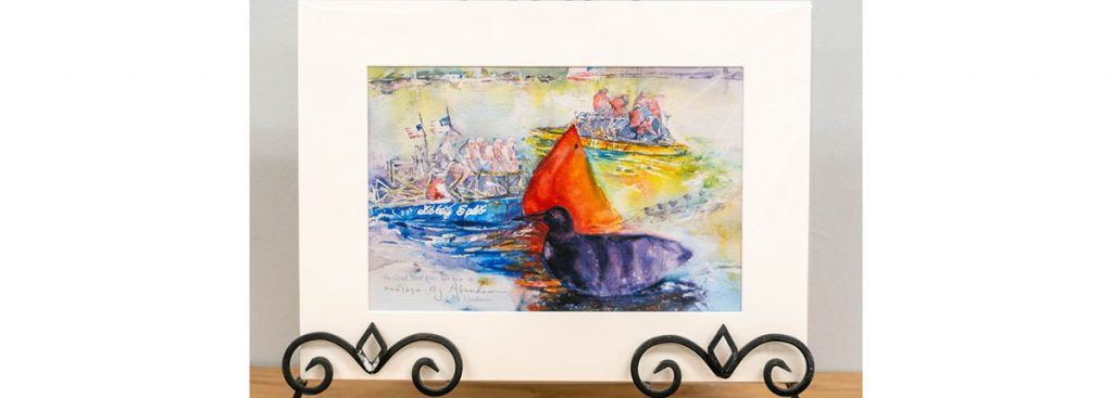 River Raft Race Print