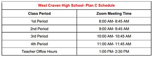 West Craven High Schedule