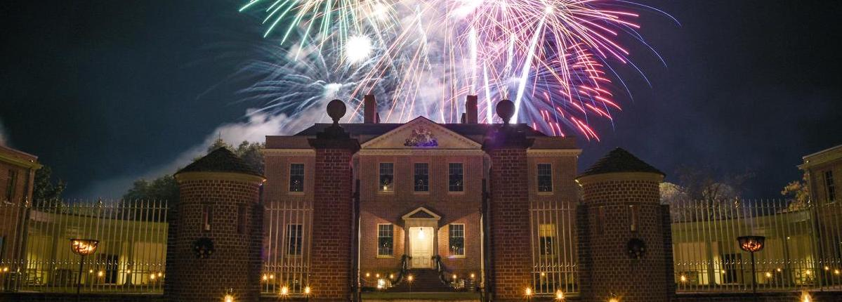 Fireworks from the South Lawn of Tryon Palace illuminate the sky during the Holiday Season. Contributed photo
