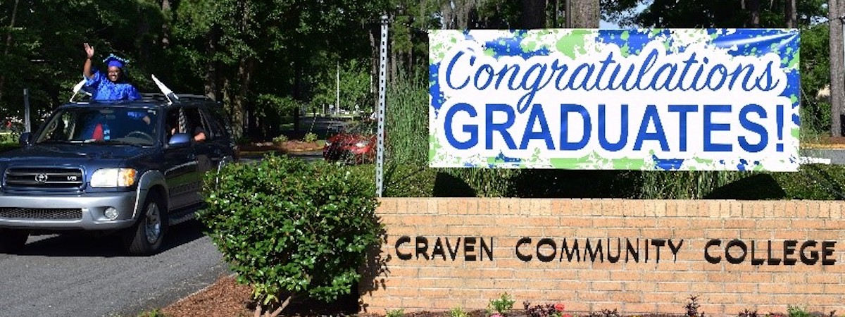 A provided file photo of a Craven Community College graduate. Provided photo