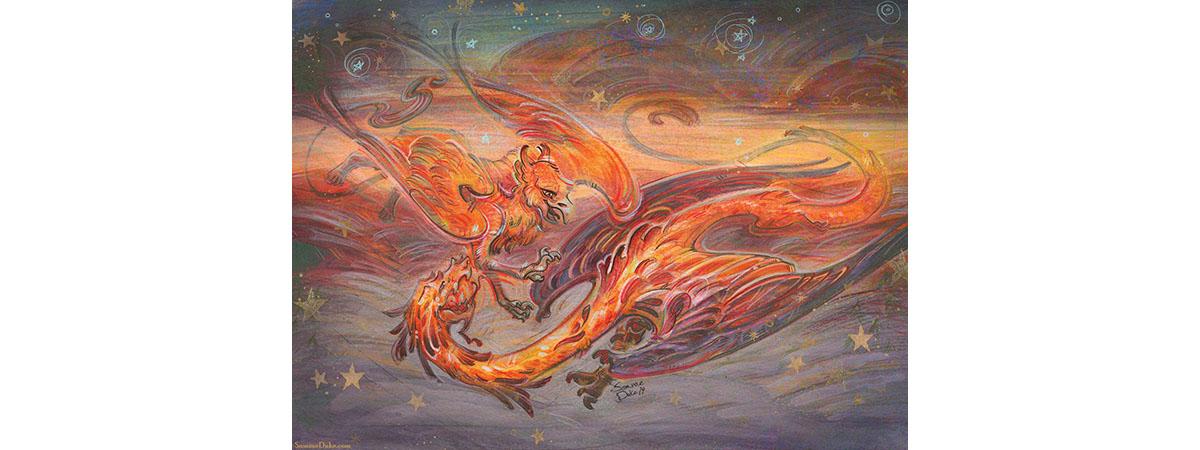 Griffen vs Dragon by Samrae Duke