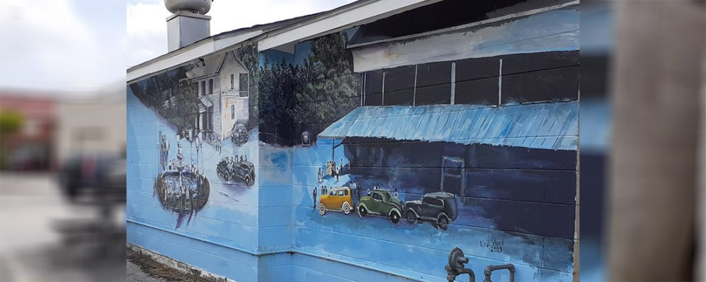 Mural on the side of the Mexican Bakery