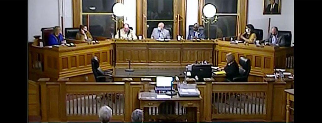 Screen Shot New Bern Board of Aldermen Meeting – March 9, 2021