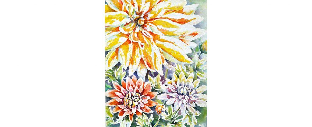 The Joy of Fall Flowers by Heidi DiBella