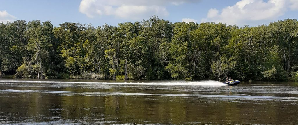 Jet Skiing on Neuse River
