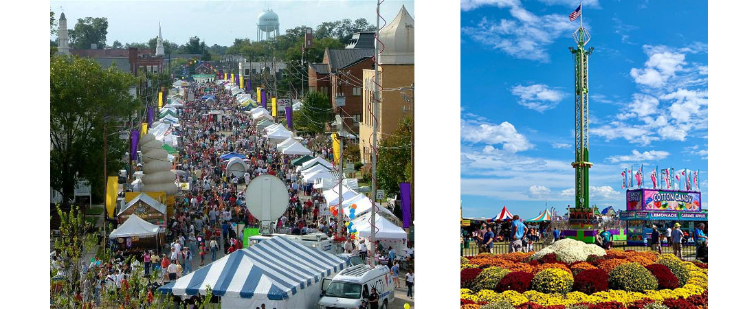 Aerial views of Mumfest