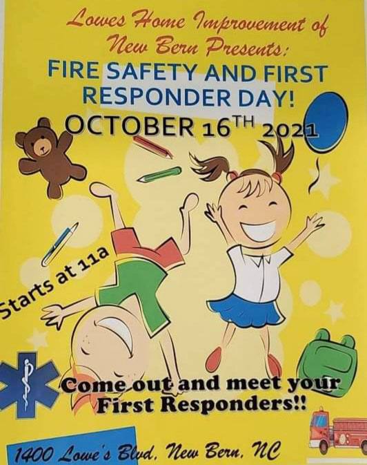 Fire Safety and First Responders Day at Lowe's in New Bern, NC