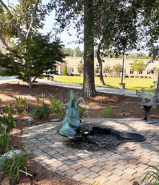 Frog Fountain on Craven Community College New Bern Campus