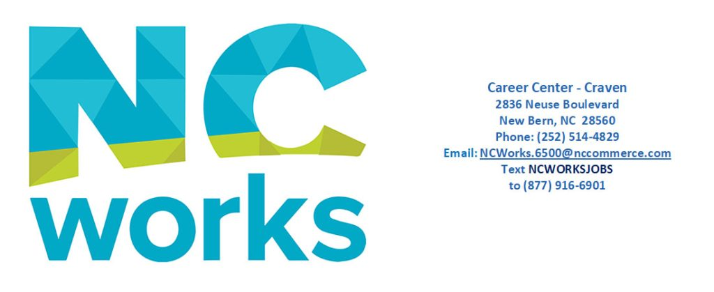 weekly job board for craven county nc - nc works