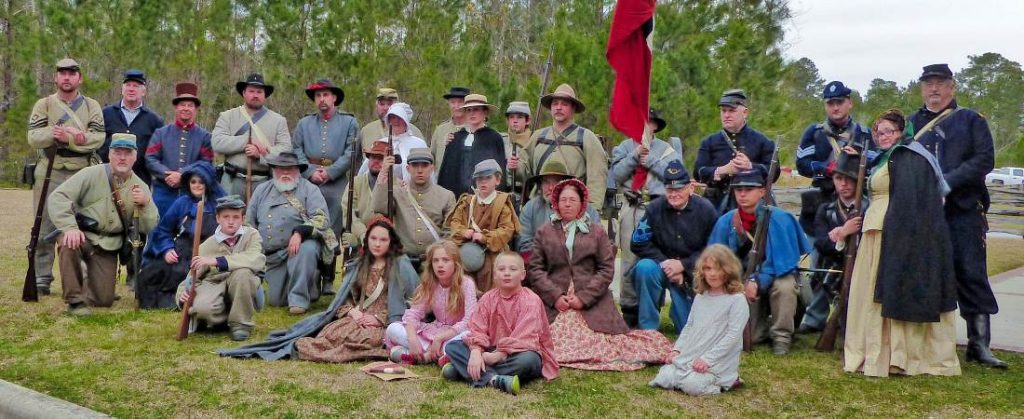 Photo from a previous gathering of the 5th and 7th NC Regiments